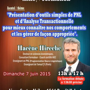 Coaching ( Formation)  par Dr. HACENE HIRECHE